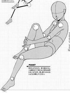 AnatoRef | Seated and Laying Manga Female Pose Reference.