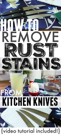 Great trick! How to remove rust stains and spot from kitchen knives naturally!