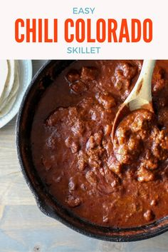 Lord have mercy, lemme tell ya'll how good this Chili Colorado Skillet is. This rivals any restaurant version I've had. You have to try this spicy recipe! via @Buy This Cook That