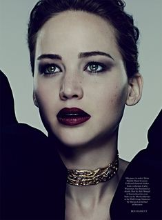 Jennifer Lawrence is a Vision for Ben Hassett in Harpers Bazaar UK