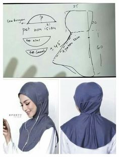 Multi-Color Women Sunscreen Bone Bonnet Neck Cover Muslim Cap Under Scarf Hats Mode Turban, Turban Hijab, Hijab Niqab, Mode Hijab, Dress Sewing Patterns, Clothing Patterns, Sewing Hacks, Sewing Tutorials, Sports Hijab