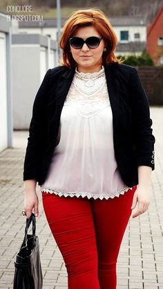 The Fatshion Café | Plus Size Blog: White Red • Keck!