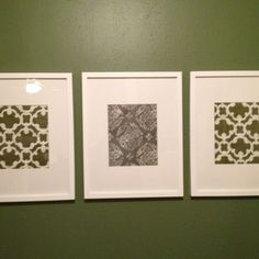 My dining room wall art. Framed napkins from Target!