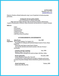 If Your Brand Ambassador Resume Is Awesome Then Youu0027ll Be Able To Be An  Awesome Brand Ambassad. Brand Ambassador Resume Samples And Brand ...