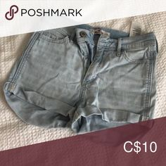 High Rise Shorts—Hollister— O Light wash soft denim! Hollister Shorts Jean Shorts