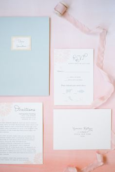 Pantone Colors of the Year Rose Quartz + Serenity Wedding Details: http://www.stylemepretty.com/2015/12/03/pantone-2016-rose-quartz-serenity-wedding-inspiration/