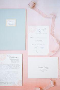 Pantone Colors of the Year Rose Quartz + Serenity Wedding Details: http://www.stylemepretty.com/2015/12/03/pantone-2016-rose-quartz-serenity-wedding-inspiration/