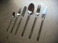 Danish Erik Herløw's Obelisk pattern for Copenhagen Cutlery/ Flatware that I have been collecting.