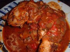 Chicken Cacciatore with Roasted Potatoes