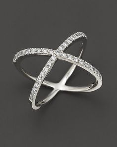 Bloomingdale's Diamond X Band in 14K White Gold, 0.40 ct. t.w. on shopstyle.com