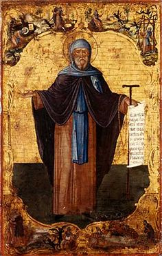 769 AD, Anonymous Coptic Painting of St Anthony the Great