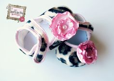 New Baby Girl Crib ShoesFancy Baby by TheBabyBellaBoutique on Etsy