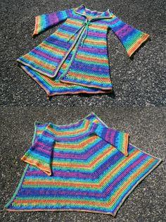 Rainbow Pixie Cardigan - Hippie Festival Sweater - Rainbow Crochet Coat