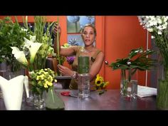 ▶ How to Make Tall Centerpieces : Wedding Flowers & Centerpieces - YouTube