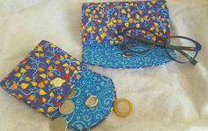 Porta óculos +porta moedas em cartonagem