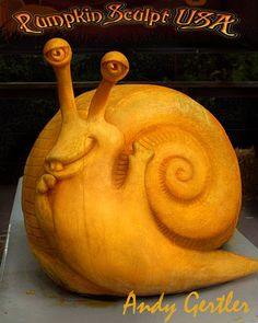 Carved by Andy Gertler of Pumpkin Sculpt USA