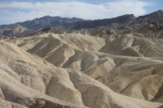 Zabriskie Point-Badland Formations is a part of Amargosa Range located east of Death Valley in Death Valley National Park in California, noted for its erosional landscape . It is composed of sediments from Furnace Creek Lake, which dried up 5 million years ago long before Death Valley came into existence.