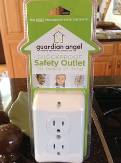 Guardian Angel Shockproof Safety Outlet  This smart device senses when your child's finger gets too close to an open outlet, and automatically shuts the power off to prevent shocks. The electrical current returns once kids are a safe distance (more than 1/4 inch) from the outlet.  To buy: $40 for 2, store.guardianangelsafety.com.