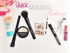 Quick Minimal Makeup Look | Nikole DeBell Beauty  Simple easy makeup, morphe brushes, Maybelline dream pure bb cream