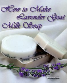 How to make lavender goats milk soap. Make it in the microwave. Easy homemade gift!