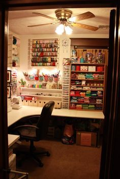 Oh, how I wish for my own craft room!