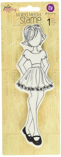 """Julie Nutting Mixed Media Cling Rubber Stamps-Riley 2.25""""X7.25"""": Amazon.es: Hogar"""