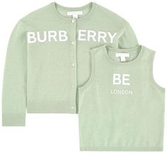 Burberry - Logo cashmere cardigan and matching tank top - 259933 Cute Casual Outfits, Chic Outfits, Kids Outfits, Fashion Outfits, Burberry Outfit, Mode Kpop, Korean Street Fashion, Chief Officer, Kids Fashion
