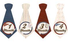 Monthly Onesie Tie Stickers, FREE Newborn or Milestone Set, Baby Month Sticker - Baseball Boy Tie - Baby Shower Gift - Newborn Photo Prop on Etsy, $10.00