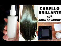 CABELLO LACIO, BRILLANTE y SIN FRIZZ CON AGUA DE ARROZ ¡Nuevo tip! - YouTube