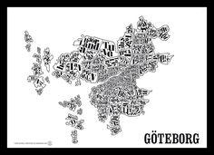 Göteborgskartan poster från TGIOC hos ConfidentLiving.se