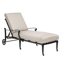 Wiltshire Adjustable Chaise Lounge - Stackable - Relax in style outside and in the sun. This chaise lounge chair can be moved around to follow the sun or the party! #chaiselounge #patiofuniture