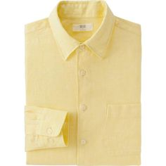MEN PREMIUM LINEN LONG-SLEEVE SHIRT | UNIQLO
