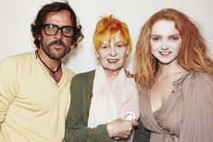 Creative Director Andreas Kronthaler and Vivienne with Lily Cole who opened the Red Label show with an amazing performance dedicated to Home and making the impossible possible. Lily Cole, Grey Hair, Fashion Books, Vivienne Westwood, My Idol, Catwalk, Style Me, Personal Style, Beautiful Women