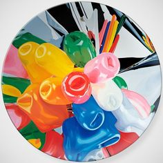 Tulips Plate by Jeff Koons