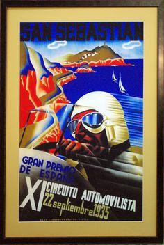 Circuito de carreras en Lasarte (1935) En venta en Ovalo enmarcación restauracion SL www,ovalorestauracion.es