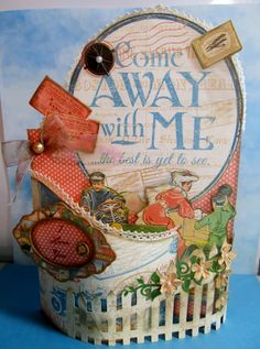 Come Away with Me bendy card by wendysteinbach - Cards and Paper Crafts at Splitcoaststampers