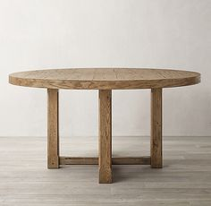 Dining Table in Waxed Natural Oak. White Oak Dining Table, Circle Dining Table, Oval Table, Dining Tables, Round Tables, Patio Table, Dining Area, Dining Rooms, Kitchen Dining