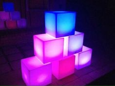 Cube Led  Sn Party Rental 787-980-6766