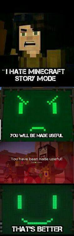 Minecraft story mode.pama vs haters