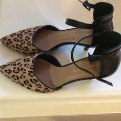 Leopard print heels Like new leopard print heels by Franco Sarto!  No scuff marks.  Would look great with jeans or cute dress.  Excellent condition. Franco Sarto Shoes Heels