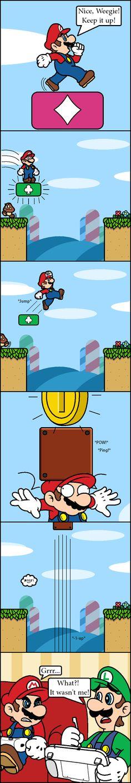 Gimmie-a boost! by Blistinaorgin.deviantart.com on @deviantART Mario gets really angry Nintendo from Oriiginal