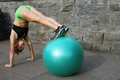 The stability ball has become a common household item. Stability ball exercise posters guide you through dozens of target toning exercises and motivate you to exercise at home.