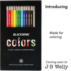 JBWelly.com COMING SOON!! The all-new colored pencil set from Blackwing! These will be super high-quality like all Blackwing pencils, but now in colors! Designed specifically for coloring! Your planners, coloring books, and sketchbooks will never be the same! #coloredpencil #blackwing #pencil #pencildrawing #pencils #pencilart #bujo #bulletjournaljunkies #planner #planneraddict #draw #sketch #sketchbook #sketching #jbwelly