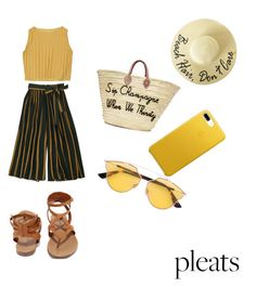 """""""Oh,boring pleats"""" by cosminaion on Polyvore featuring Breckelle's, Poolside Bags and Christian Dior"""