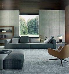 I am a fan of Minotti.Interior Design By Minotti Interior Design Inspiration, Home Interior Design, Interior Architecture, Interior Ideas, Living Room Designs, Living Spaces, Living Rooms, Contemporary Interior, Stylish Interior
