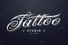 Tattoo Studio Logo Template Templates ---**Tattoo Studio Logo Template** by **Vecster**. ---**ZIP con by Vecster Tattoo Studio, Studio Logo, Letterhead Template, Brochure Template, Logo Templates, Design Templates, Cool Business Cards, Business Card Logo, Enough Tattoo