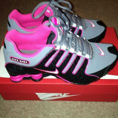 PINK, GREY, BLACK NIKE SHOX Sneakers Shoes, Air Max Sneakers, Adidas Sneakers, Yeezy Shoes, Women's Shoes, Converse Shoes, Cheap Nike, Nike Shoes Cheap, Nike Shoes Outlet