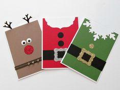 A silver Christmas decoration - HomeCNB Christmas Note, Simple Christmas Cards, Christmas Card Crafts, Homemade Christmas Cards, Christmas Drawing, Xmas Cards, Homemade Cards, Holiday Cards, Invitation Fete