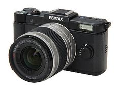 "PENTAX Q (15100) Black 12.4 MP 3.0"" 460K LCD Digital Camera with 02 Standard Zoom Lens"