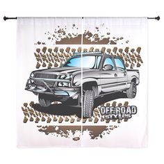 Chevy truck shower curtain. Buy now @ http://www.cafepress.com/offroadstyles/11462144. #Chevy #chevytrucks #chevyfans #chevy4x4 #4x4chevy #trucks #chevyaccessories #chevygirls #chevyfans #chevyoffroad #chevylovers #truck